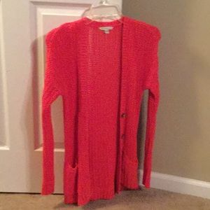 Women's hot pink cardigan sweater
